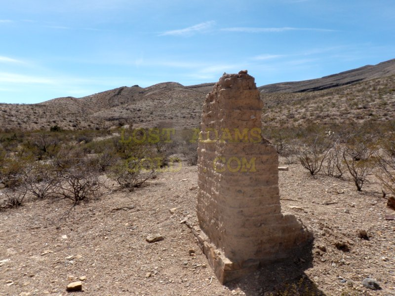 Adobe Ruin In The Caballo Mountains, Renowned for Treasure Lore and Abutting the Jornada Del Muerto of the Camino Real De Le Tierra Adentro